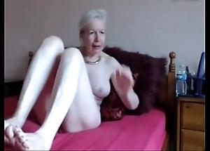 Amateur. bonny saleable granny masturbates