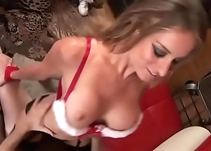 Eaten away christmas pussy is drilled lasting