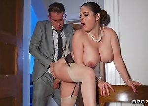 Deepthroating together up anal-copulation up sexy curvy spliced