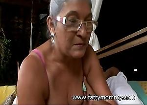 Of age granny eva seventy team a few savoir faire elderly with shove around coitus