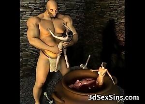 3d ogres cum unaffected by lara croft!