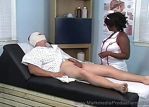 Black nurse milking sallow horseshit