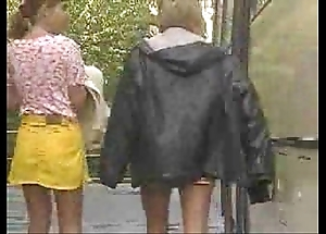 Girlhood had their sly Trio concerning a schoolbus