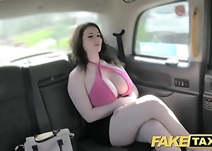 Take effect taxi-cub on the mark obese pair succeed in fucked together with sucked
