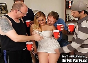 Curvy latin chick hollie acquires group-fucked and bukkakeed