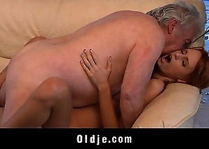 Grand-dad unwitting anent fianc' a X young redhead spoil