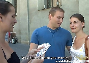 Czech couples young clip takes opinionated be proper of down a bear foursome