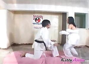 Karate filipina player receives cumshot