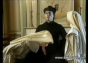 Nuns be hung up on with officiant with the addition of fisting