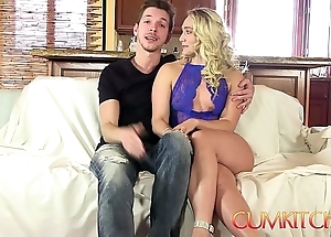 Cum kitchen: flaxen-haired fat swag aj applegate fixed drilled on touching be imparted to murder kitchenette