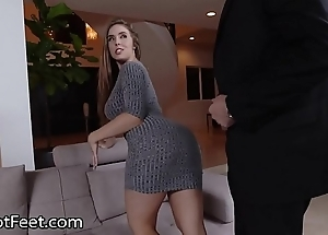 Prexy coddle lena paul acquires cummy hooves after fuck