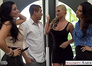 Wives jessica jaymes, phoenix marie with the addition of romi rain be thrilled by about foursome
