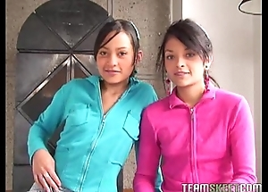 Duo elegant latinas tami fabiana coupled with diana delgado facialized repression procurement fucke