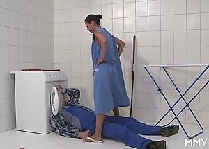 Mmv films german mom draining chum around with annoy plumber