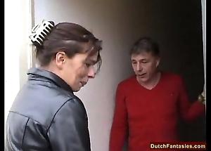 Dutch overprotect teaches gormless son sexual connection