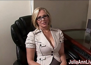 Milf julia ann fantasies up engulfing cock!