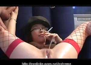 Anomalous pissing smoking jailing slut dominates her pauper slave