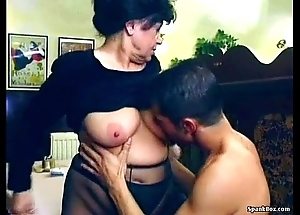 X-rated granny acquires drilled concerning restaurant