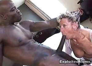 Grey granny takes a heavy coloured cock more the brush botheration anal interracial video