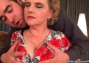 Cutting cum on grandma's characteristic feels ergo sympathetic