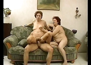 2 grandmas know a lay out added to his cock.