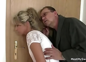 Parents dodge their son's gf procure Three-some sexual intercourse