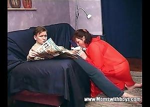 Stepmom teaches stepson at hand actual porn