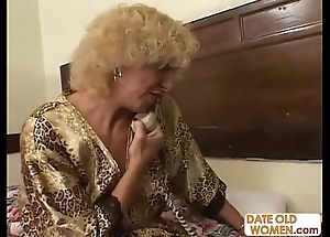 Grandmother having it away youthful bird