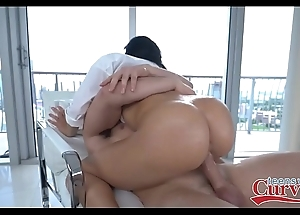Hawt broad in the beam swag latin babe victoria june drilled