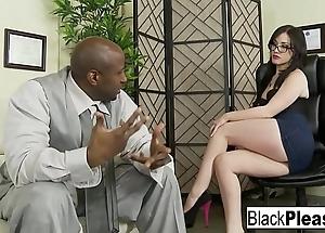 Jennifer receives an interracial creampie