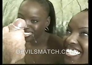 Duo baneful twins surrounding anal action